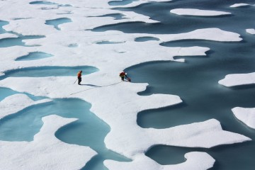 "On July 12, 2011, crew from the U.S. Coast Guard Cutter Healy retrieved a canister dropped by parachute from a C-130, which brought supplies for some mid-mission fixes. The ICESCAPE mission, or ""Impacts of Climate on Ecosystems and Chemistry of the Arctic Pacific Environment,"" is a NASA shipborne investigation to study how changing conditions in the Arctic affect the ocean's chemistry and ecosystems. The bulk of the research took place in the Beaufort and Chukchi seas in summer 2010 and 2011. Credit: NASA/Kathryn Hansen  NASA image use policy.  NASA Goddard Space Flight Center enables NASA's mission through four scientific endeavors: Earth Science, Heliophysics, Solar System Exploration, and Astrophysics. Goddard plays a leading role in NASA's accomplishments by contributing compelling scientific knowledge to advance the Agency's mission.  Follow us on Twitter  Like us on Facebook  Find us on Instagram"