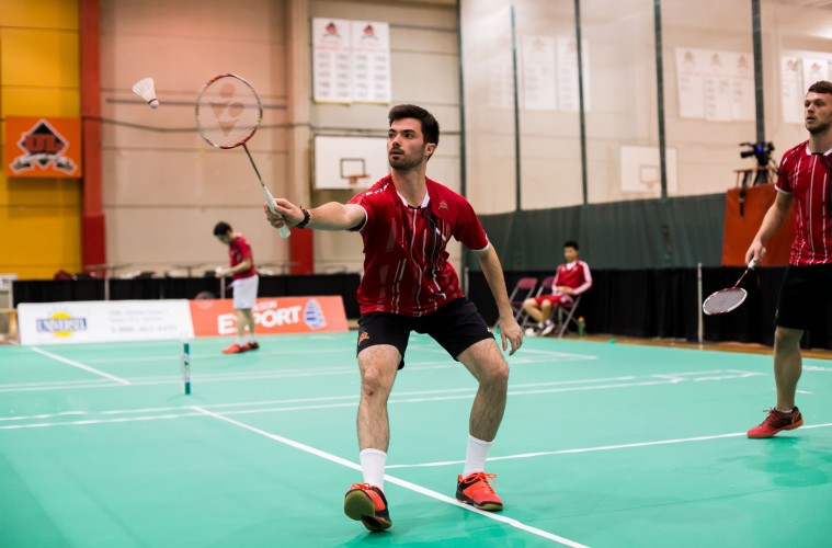 Maxime Marin - Badminton Rouge et Or - février 2016 - Photo : Pierre-Yves Laroche