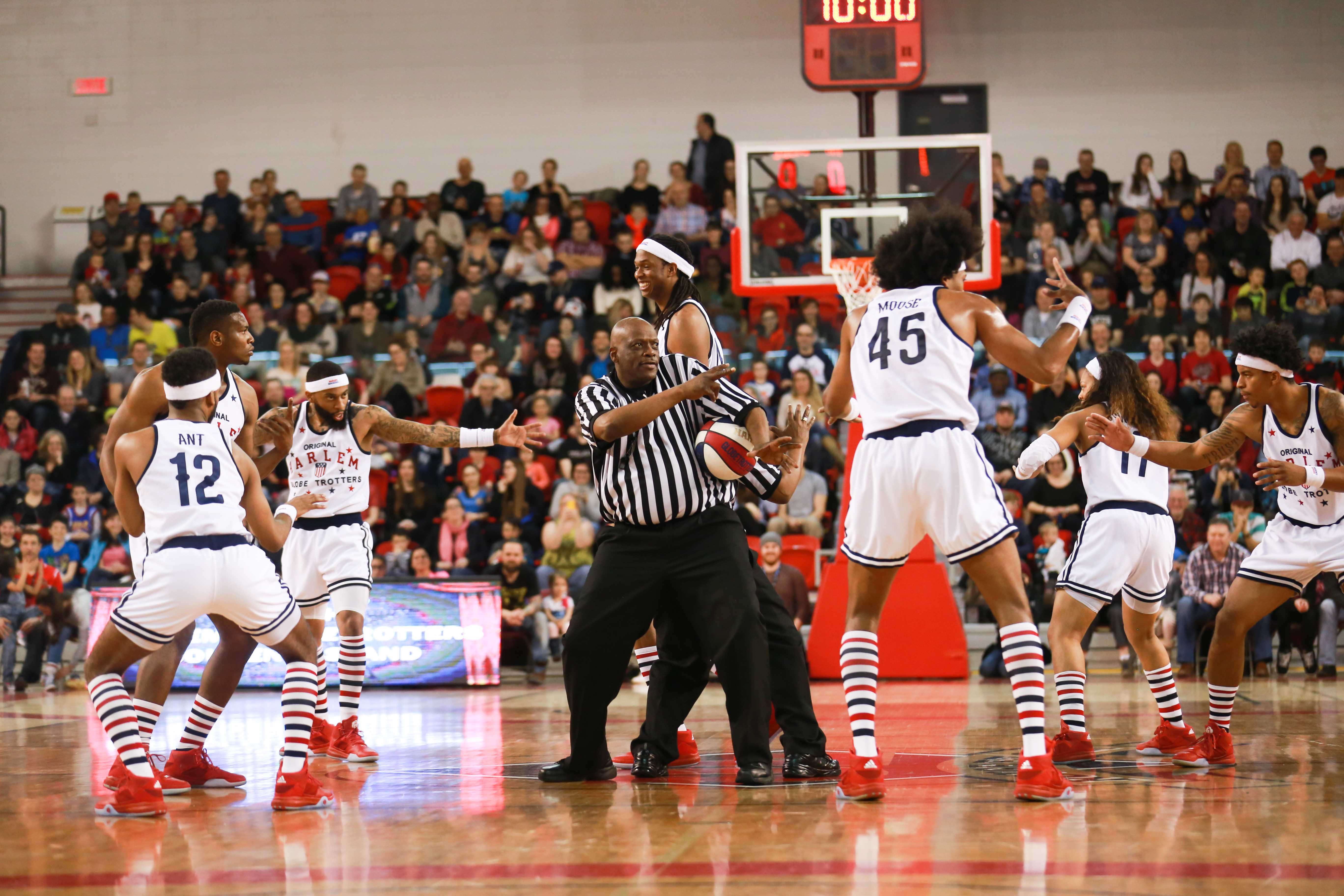 Harlem globetrotters, basketball - Photo : Simon Dufresne