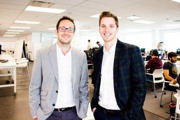 Guillaume Lahoud (à gauche) et Philippe Tardif-Michaud (à droite). Crédit photo: Courtoisie MovingWaldo.